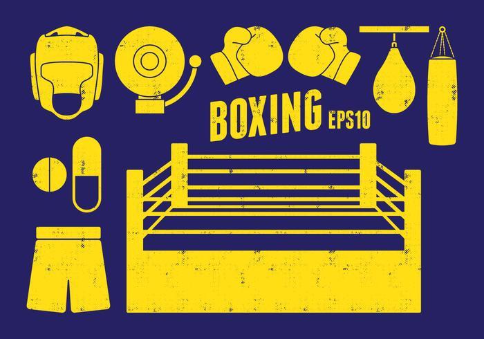 Icone di boxe vettore