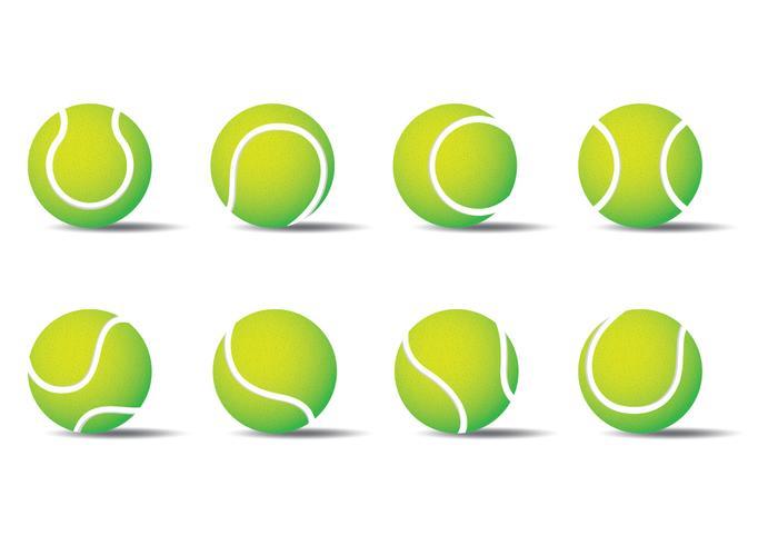 Palla da tennis vettore