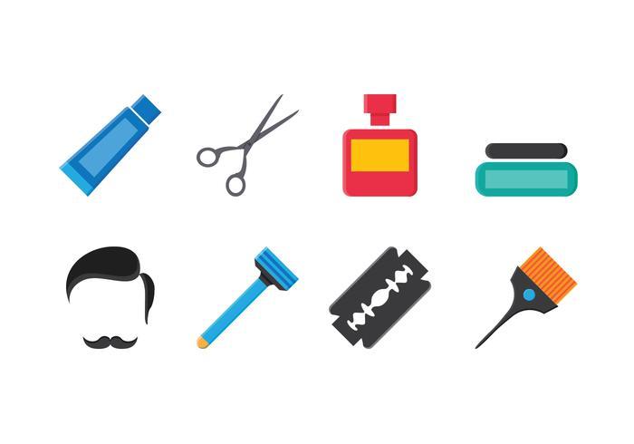 Set di icone del barbiere gratuito vettore