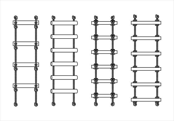 Vettore libero del profilo della scala della corda
