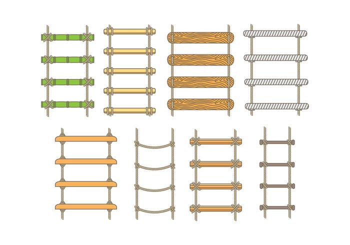 Icone della scala di corda vettore