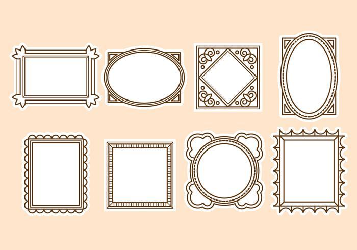 Vintage Frame Vector gratuito