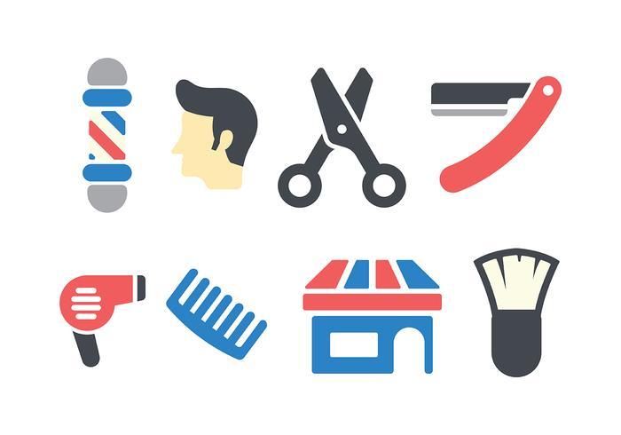 vettore dell'icona del negozio di barbiere