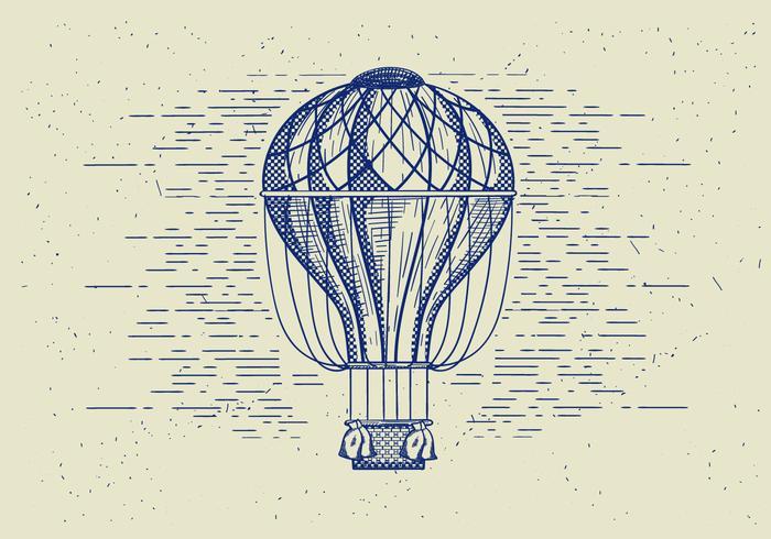 Aerostato di aria dettagliata vettoriali gratis