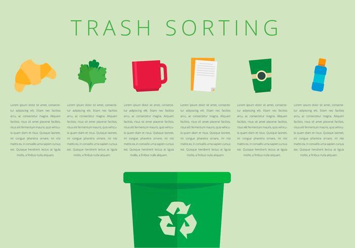 Smistamento dei rifiuti in discarica vettore