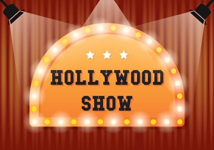 Illustrazione di luce di Hollywood vettore