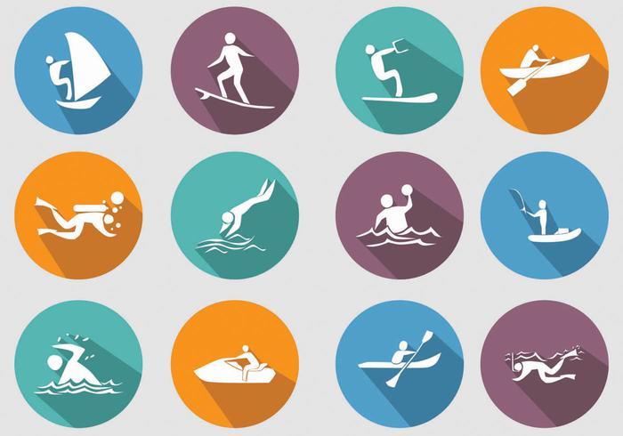 Icona di sport acquatici vettore