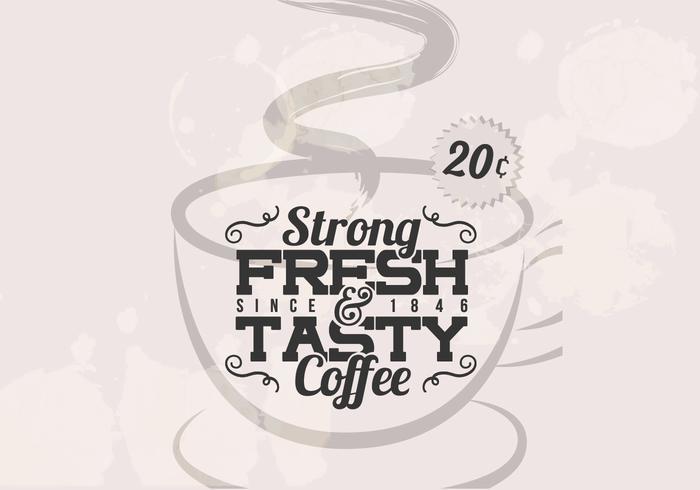 Vettore d'annata del caffè forte