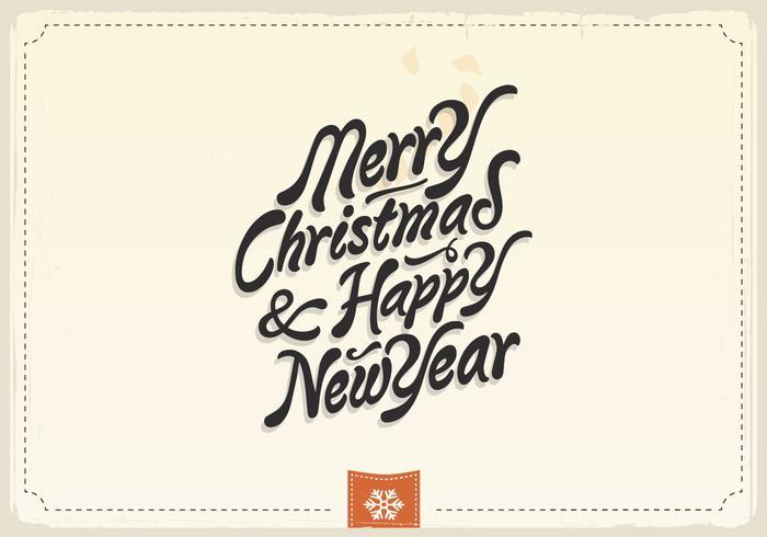 Buon Natale e felice anno nuovo vettore d'epoca
