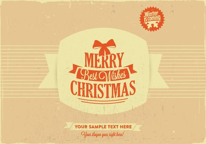 Buon Natale e auguri vettoriale