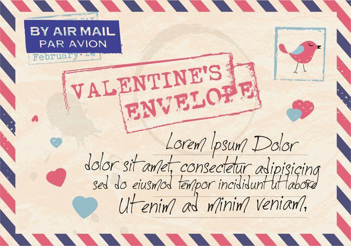 Valentine's Envelope Mail Vector