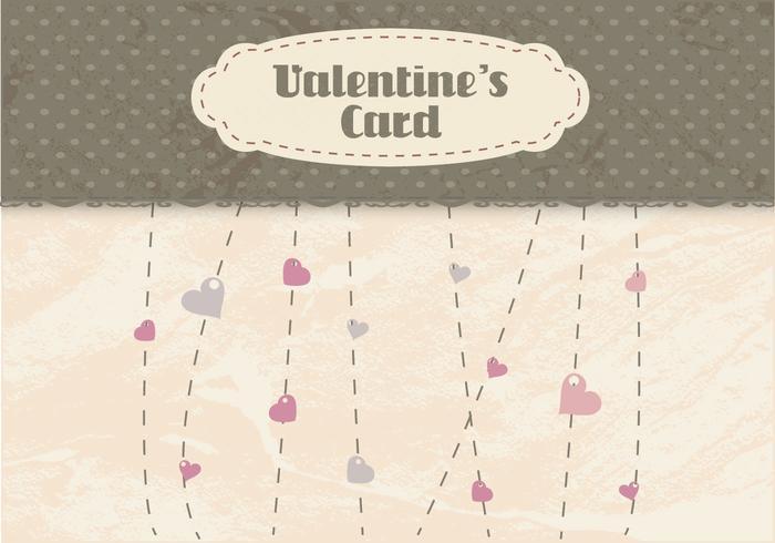Vettore di Heartstrings di San Valentino