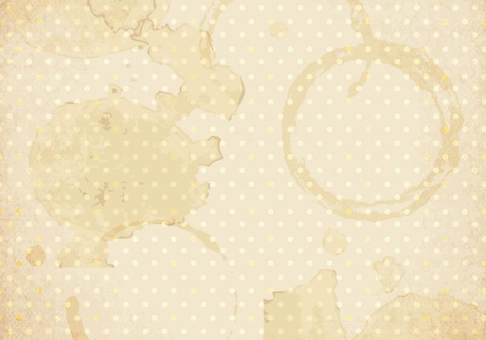 Anelli di caffè e vettoriale Splatter