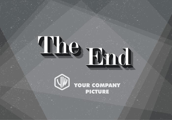 serif il vettore della scheda del titolo finale