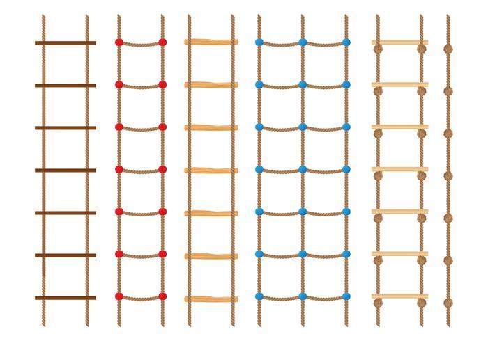 Collezione Rope Ladder vettore