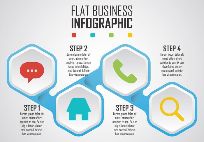 Infografica di affari piatta vettore