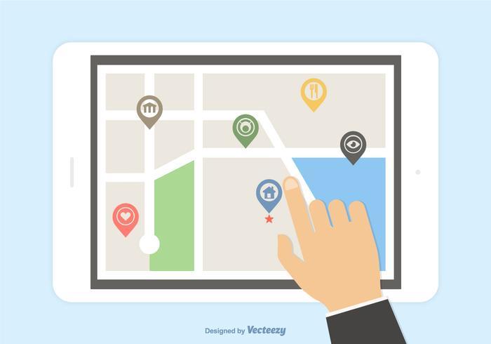 navigazione mobile gps vettoriale