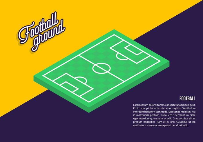 Sfondo di calcio a terra vettore
