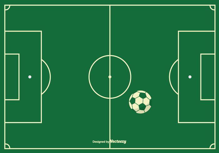 Sfondo campo di calcio vettore