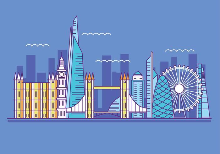 Illustrazione vettoriale The Shard e The London Skylane