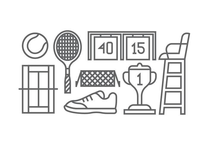 Icone di tennis vettore