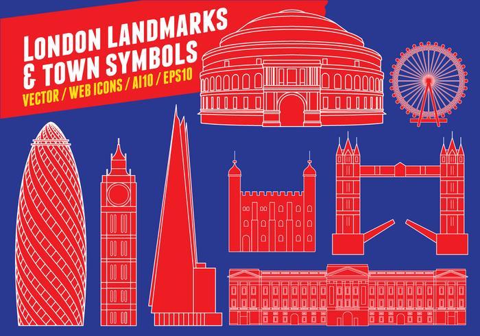 Punti di riferimento e simboli della città di Londra vettore