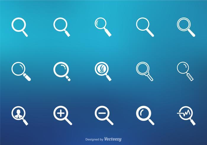 Icone di vettore della lente d'ingrandimento
