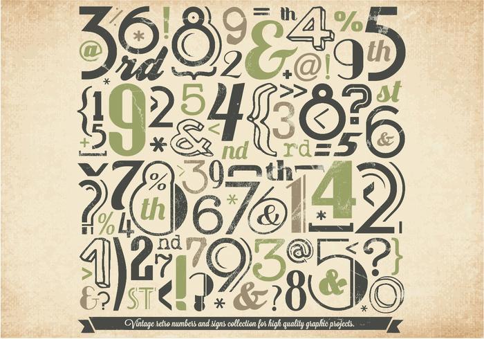 Vettore di raccolta di numeri verdi