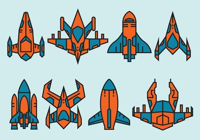 Icone di astronave vettore