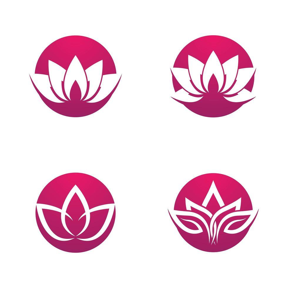 set di logo di loto di bellezza vettore