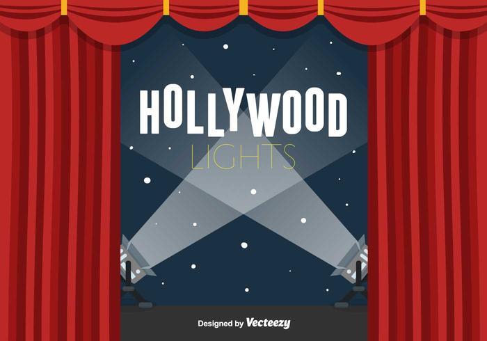 Sfondo di luci di Hollywood vettore
