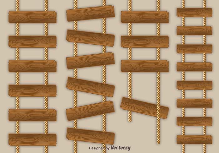 Icone di vettore di scala di corda