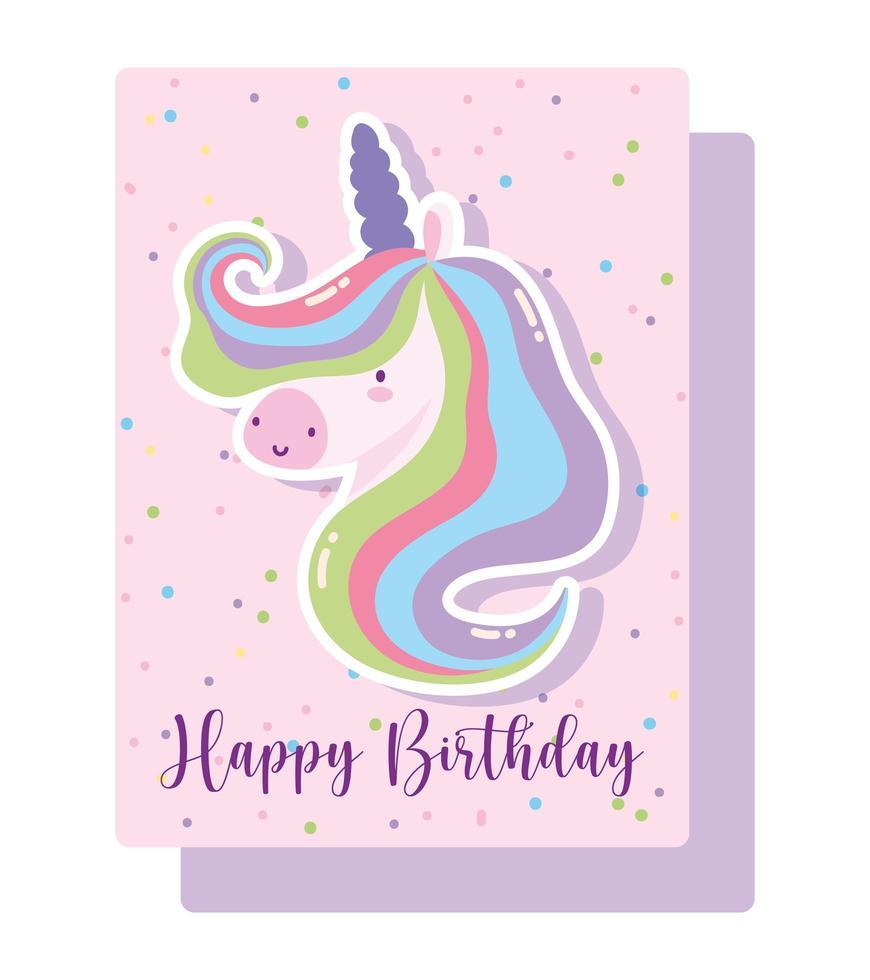 buon compleanno con carta arcobaleno vettore