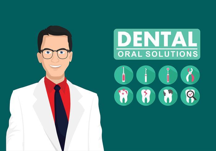 vettore gratuito dentista