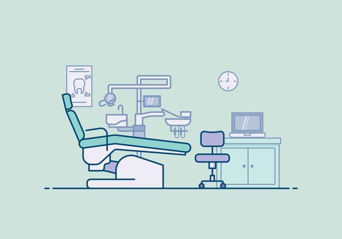 Illustrazione libera dell'ufficio del dentista vettore