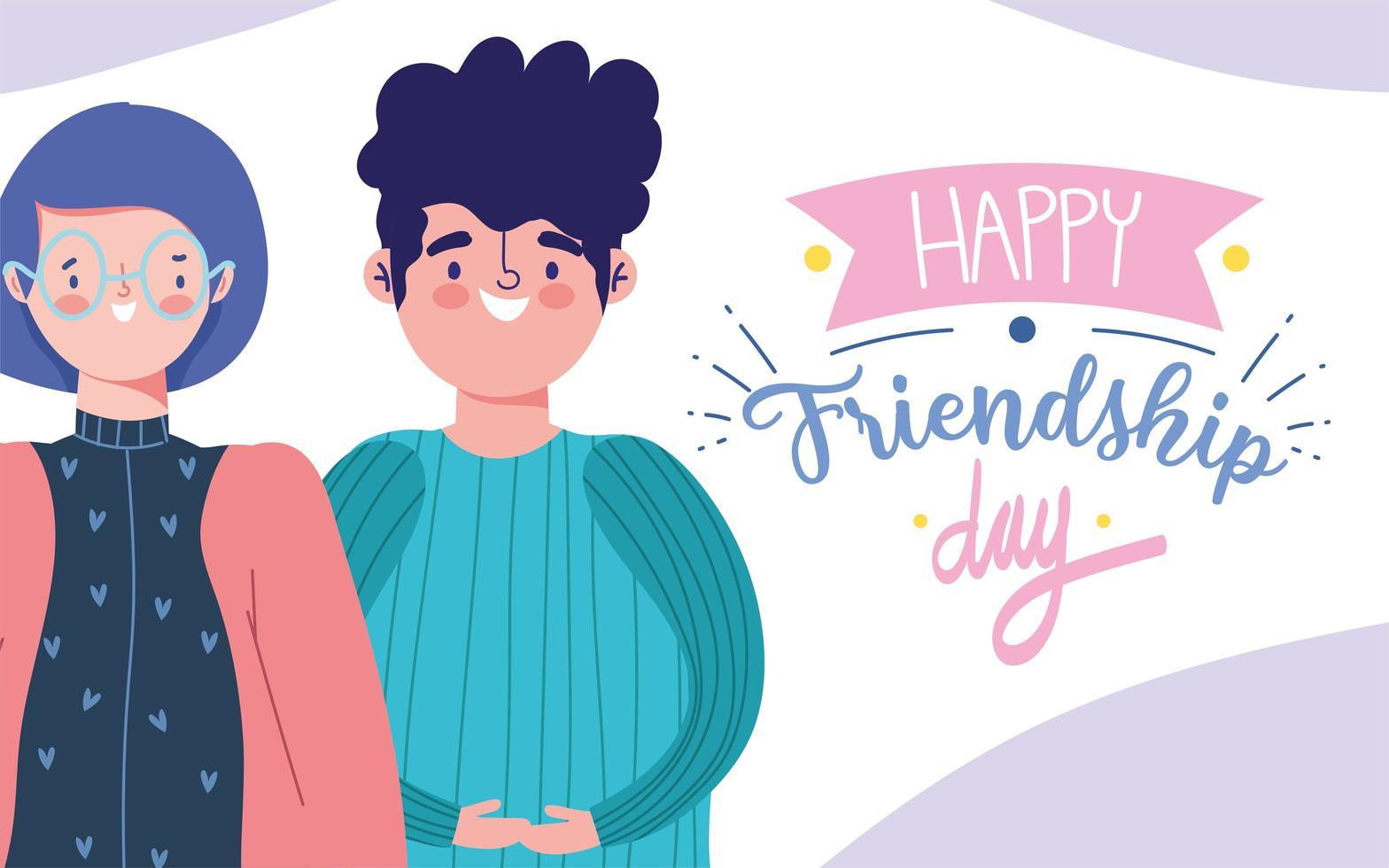 giovani che celebrano la giornata dell'amicizia vettore