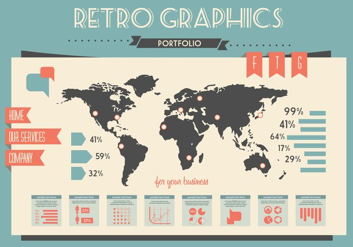 Mappa grafica vettoriale