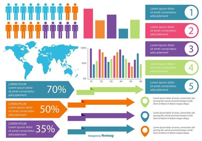 Raccolta di elementi di infografica vettore