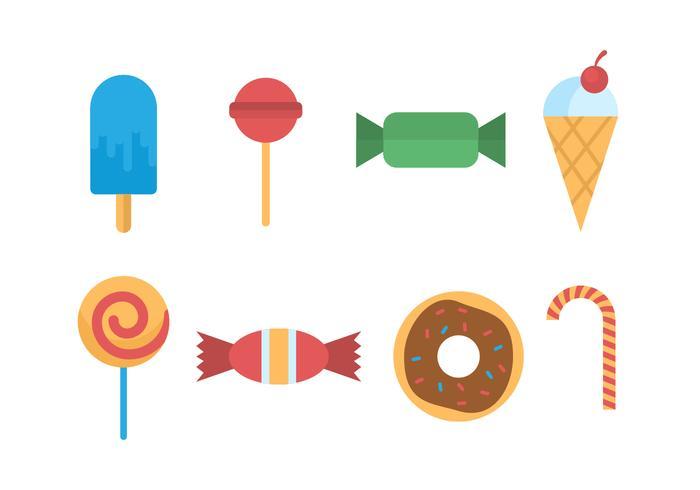 vettore di caramelle e zucchero