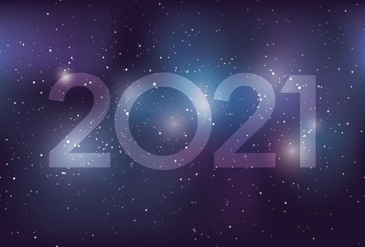anno 2021 modello di spazio biglietto di auguri di capodanno vettore