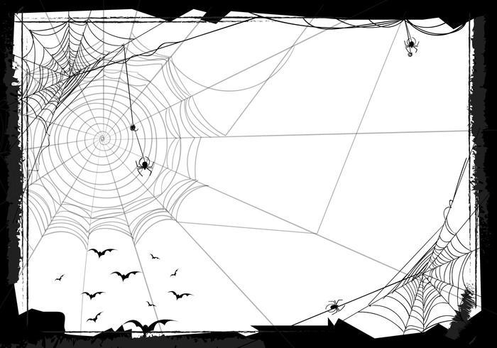 Sfondo senza giunte di Halloween con Web Spider vettore