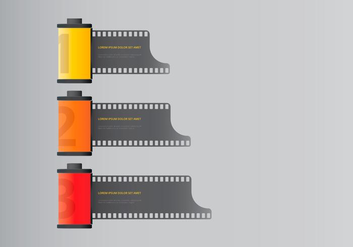 Contenitore fotografico per pellicole vettore