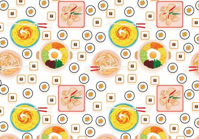 Vettore coreano del modello dell'alimento