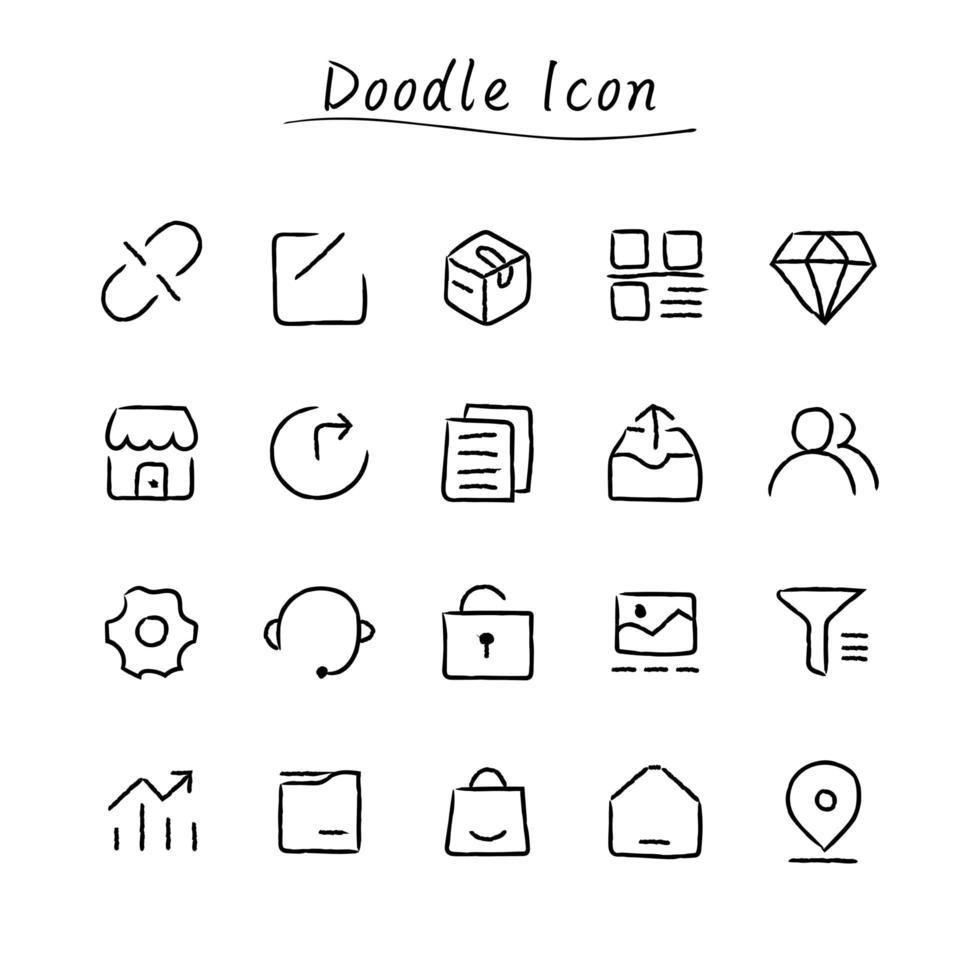icone di doodle disegnato a mano vettore