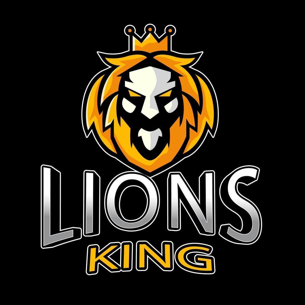 emblema del leone esport vettore