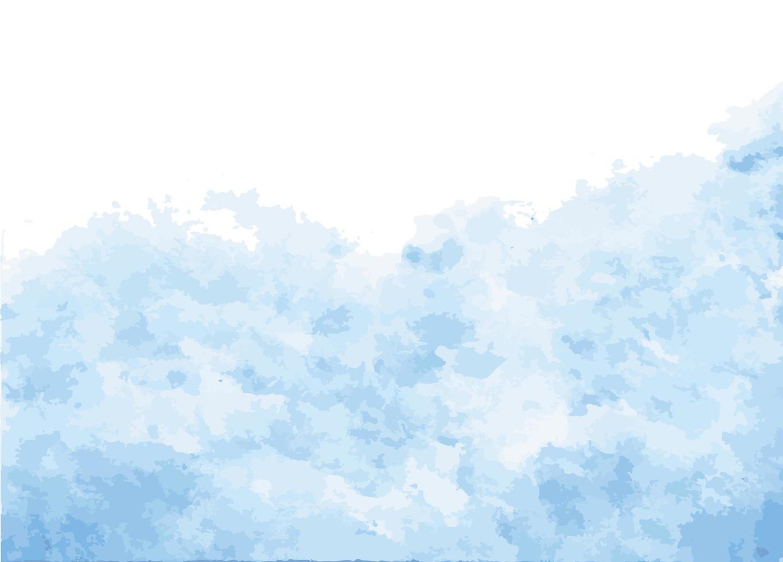 pittura di sfondo blu acquerello vettore