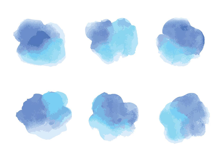 cricles dell'acquerello blu vettore