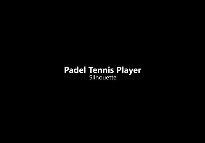 Silhouette di giocatore di tennis padel vettore