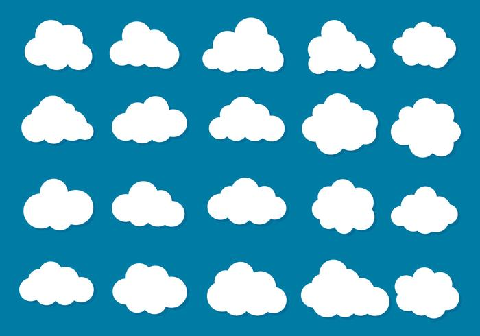 Collezione di icone vettoriali nuvole