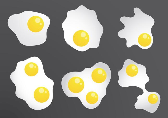 Vettore delle icone dell'uovo fritto